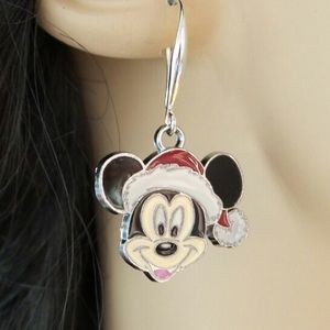 Mickey Mouse Silver Stockings Hat Earrings